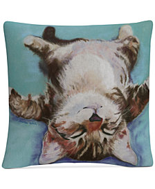 "Pat Saunders-White Little Napper 16"" x 16"" Decorative Throw Pillow"