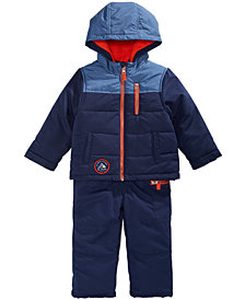 Carter's Little Boys Colorblocked Hooded Snowsuit