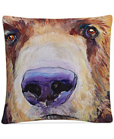 "Pat Saunders-White The Sniffer 16"" x 16"" Decorative Throw Pillow"