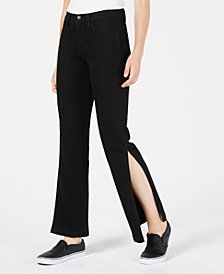 Flying Monkey Ankle-Slit Jeans