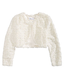 Bonnie Jean Big Girls Faux Fur Shrug