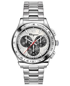 Ferragamo Men's Swiss Chronograph 1898 Stainless Steel Bracelet Watch 42mm