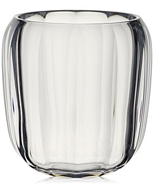 Clear Hurricane Lamp Small Vase