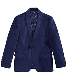 Big Boys Navy Velvet Suit Jacket