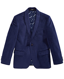 DKNY Big Boys Navy Velvet Suit Jacket