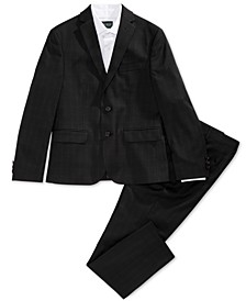 Big Boys Windowpane Suit Jacket, Pants & Shirt Separates