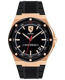 Men's Aspire Black Silicone Strap Watch 42mm