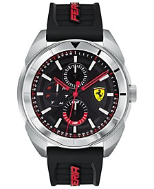 Men's Forza Black Silicone Strap Watch 45mm