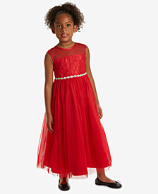 Rare Editions Little Girls Lace Maxi Dress