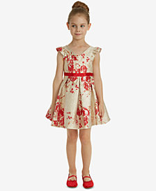 Rare Editions Toddler Girls Metallic Brocade Dress
