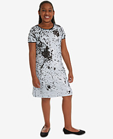 Rare Editions Big Girls Plus Reversible Sequin Shift Dress