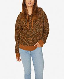 Sanctuary Cotton Leopard-Print Hoodie