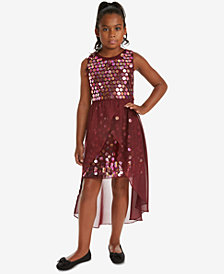 Rare Editions Big Girls Sequin Overlay Party Dress