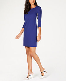 Alfani Petite Varsity-Striped Sheath Dress, Created for Macy's