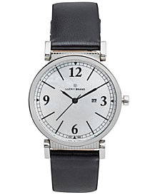 Lucky Brand Women's Carmel Black Leather Strap Watch 34mm