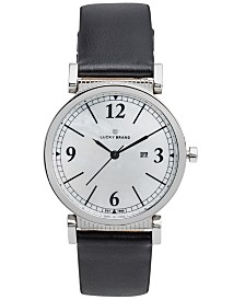 Lucky Brand Women's Carmel Black Leather Strap Watch 34mm