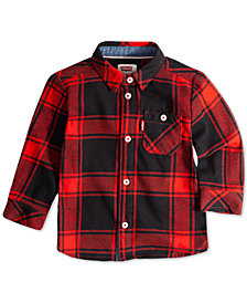 Levi's® Baby Boys Plaid Button-Up Cotton Shirt