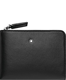 Montblanc Men's Nightflight Black Leather Business Card Holder