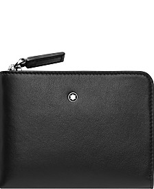 Montblanc Men's Nightflight Black Leather Business Card Holder