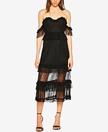 Bardot Strapless Lace Dress