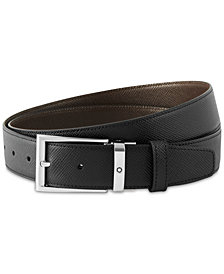 Montblanc Men's Saffiano Leather Reversible Belt
