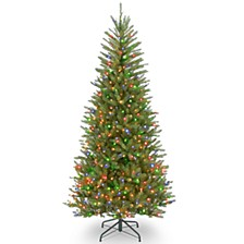 National Tree 7 .5' Dunhill Fir Slim Tree with 600 Multicolor Lights