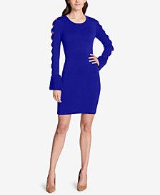 kensie Bow-Sleeve Sweater Dress