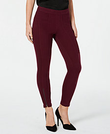 HUE® Seamed Zip Skimmer Leggings