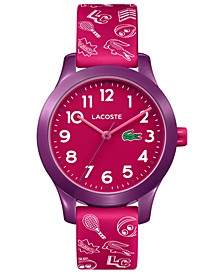 Kids 12.12 Pink Silicone Strap Watch 32mm