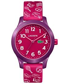 Kids 12.12 Pink Silicone Strap Watch 32mm