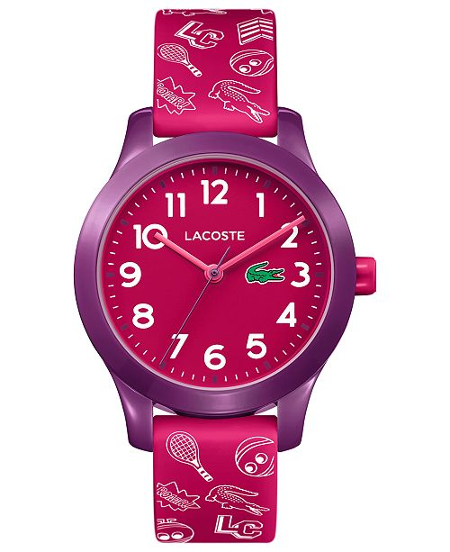 Lacoste Kids 12.12 Pink Silicone Strap Watch 32mm