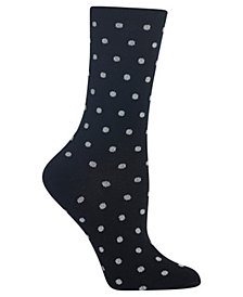 Hot Sox Women's Small Dot Crew Socks