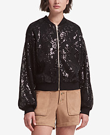 DKNY Sequined Bomber Jacket, Created for Macy's