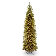 National Tree 14' Kingswood Fir Pencil Tree with 1300 Clear Lights