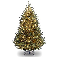 National Tree 7 .5' Natural Fraser Fir Tree With 1000 Clear Lights