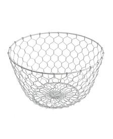 White Chicken Wire Basket