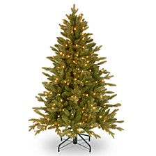"""National Tree 4.5' """"Feel Real"""" Avalon Spruce Medium Hinged Tree with 350 Clear Lights"""