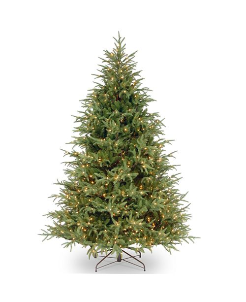 National Tree Company National Tree 6 .5' Feel Real  Fraser Grande Hinged Tree with 550 Dual Color  LED Lights