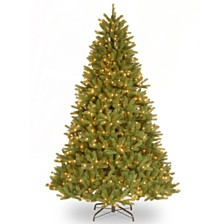 "National Tree 7 .5' ""Feel Real"" Grande Fir Medium Hinged Tree with 750 Clear Lights"