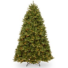 National Tree 7 .5' Feel Real  Newberry ™  Spruce Hinged Tree with 900 Dual Color LED Lights &  PowerConnect™