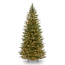 National Tree Company 7 .5' Feel Real Norway Slim Spruce Tree with 700 Clear Lights