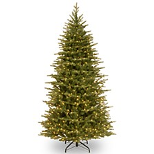 "National Tree 7 .5' ""Feel Real"" Nordic Spruce Slim Hinged Tree with 750 Clear Lights"