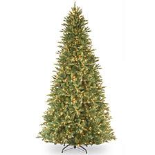 "National Tree 9' ""Feel Real"" Tiffany Fir Slim Hinged Tree with 800 Clear Lights"