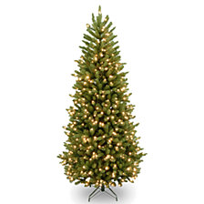 National Tree 7 .5' Venetian Fir Hinged Tree with 700 Dual Color LED Lights PowerConnect