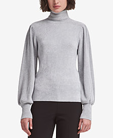 DKNY Chenille Blouson-Sleeve Sweater, Created for Macy's