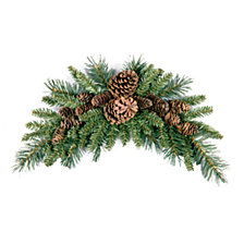National Tree Company 3' Pine Cone Crescent