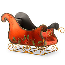 "National Tree Company 38.5"" Red Santa's Sleigh"