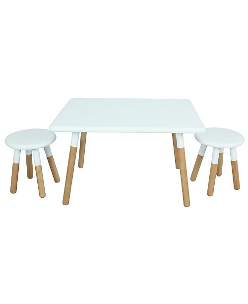 Acessentials Kids 3-Piece Table And Stool Painted Dipped