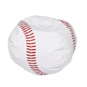Acessentials Sports Bean Bag Chair In White