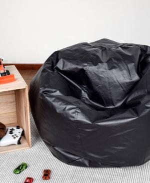 Acessentials Vinyl Bean Bag Chair In Black